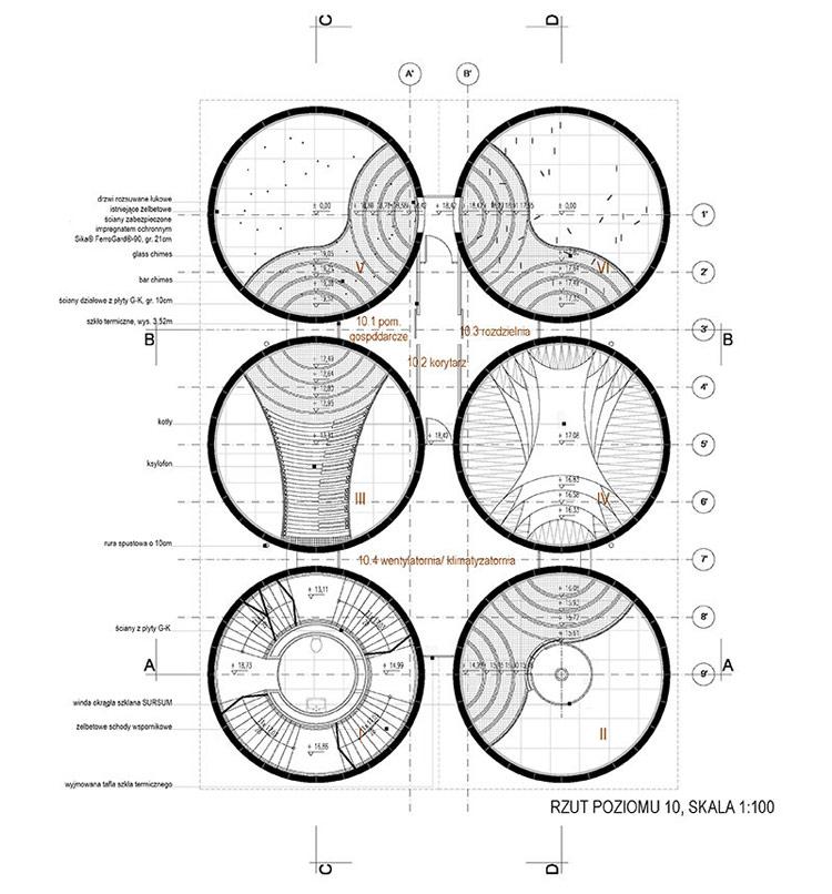 Dyplomy Architektury: Adaptacja żelbetowych silosów. Projekt: Emilia Kaczor
