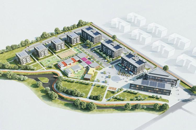 I Nagroda w konkursie na koncepcję Centrum Administracyjno-Usługowego w Juszkowie. Projekt: 3MA Studio