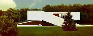 Nowoczesny Dom na Przestrzał projektu studia DISM Architekci