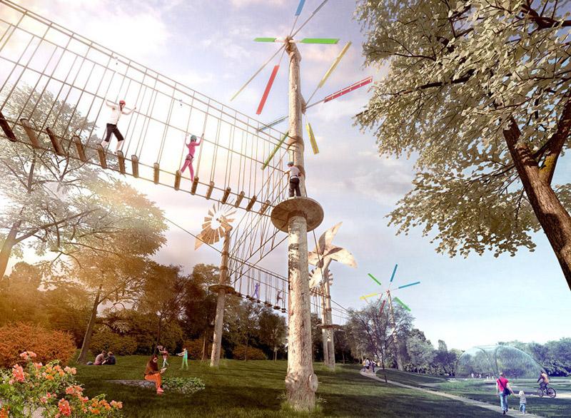 """Park Edukacyjny """"Akademia Bajki"""" w Pacanowie. Projekt konkursowy: Nizio Design International"""