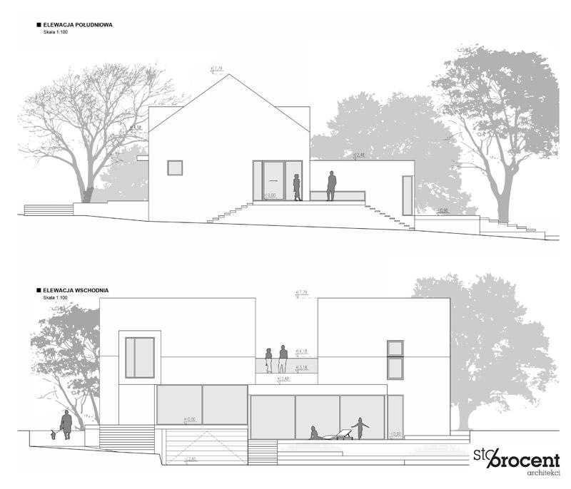 Dom Z - Przebudowa domu z lat 80-tych. Projekt: STOPROCENT Architekci