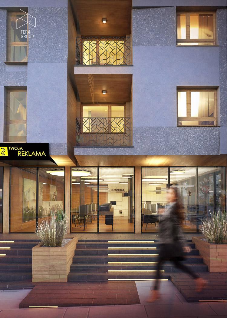 Budynek wielorodzinny w centrum Kielc. Projekt: Pracownia Architektoniczna Tera Group