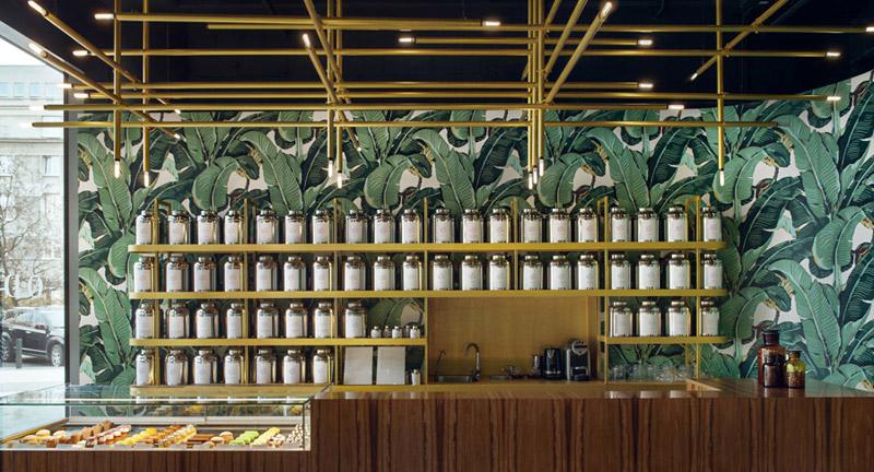 Herbaciarnia Odette Tea Room w Warszawie. Projekt wnętrz: UGO Architecture