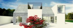Dom ze skośnym dachem projektu pracowni DISM Architekci