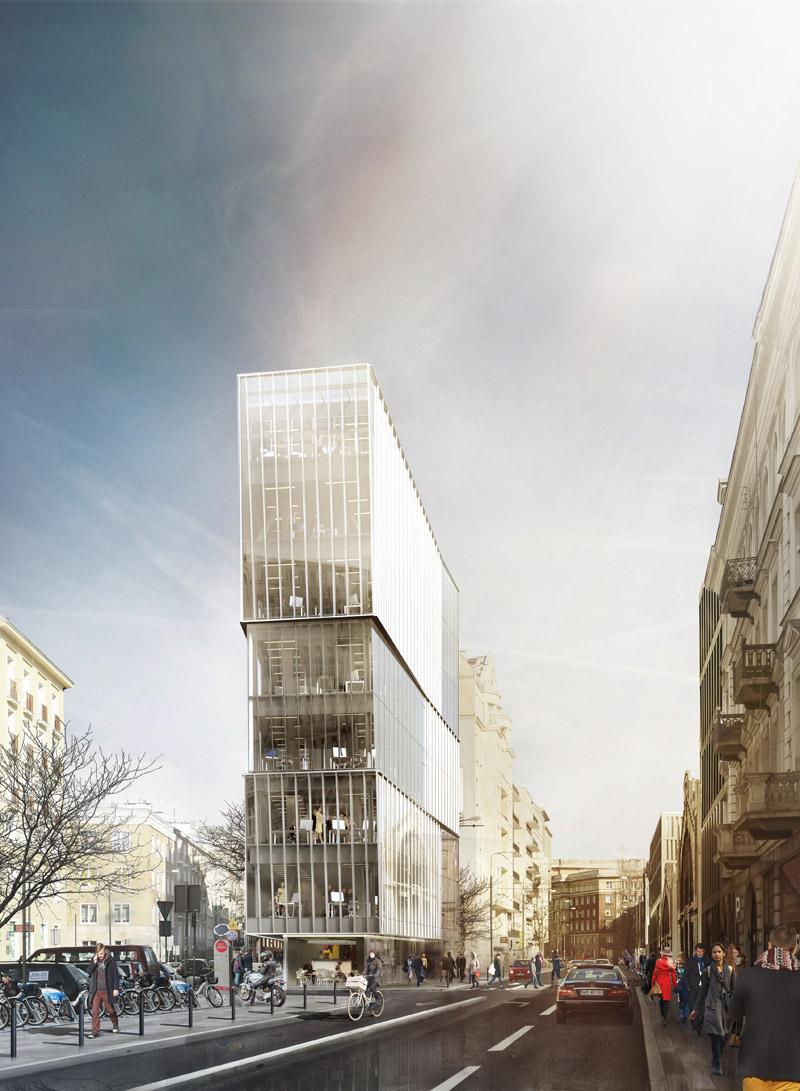 Biurowiec w centrum Warszawy projektu pracowni Grupa 5 Architekci