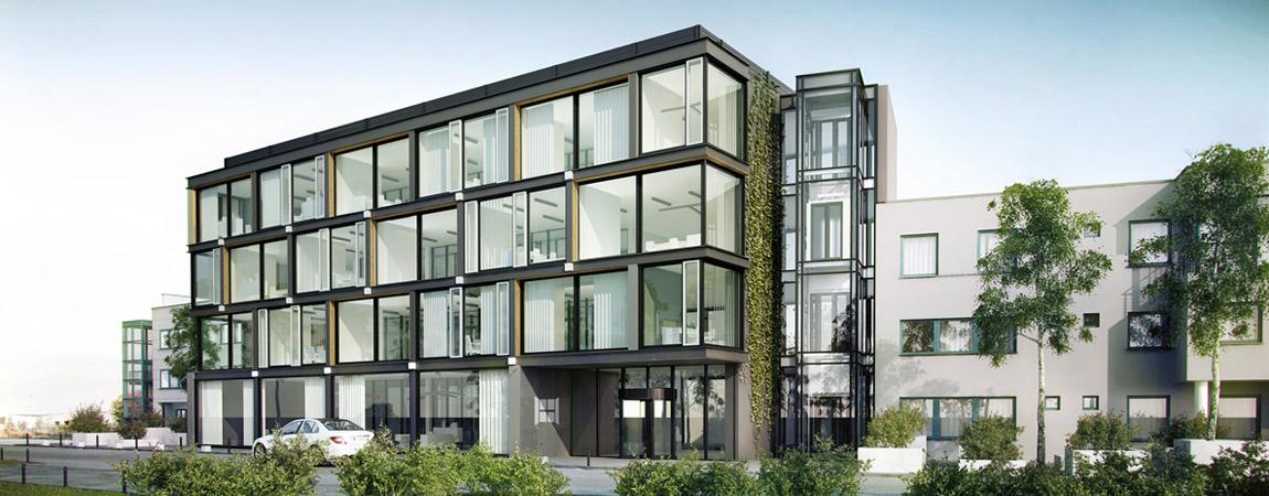 Rozbudowa siedziby firmy Oknoplast w Ochmanowie. Projekt: Grycaj Design. Współpraca: Iliard