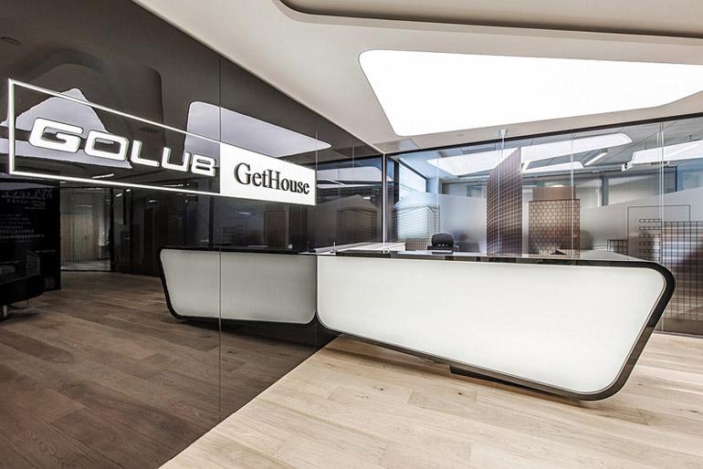 Wnętrza biurowe firmy Golub GetHouse. Projekt: InDesign