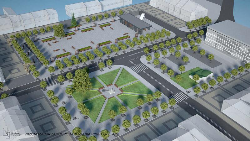 Rewitalizacja miejskiego rynku w Janowie Lubelskim. Projekt: Nizio Design International
