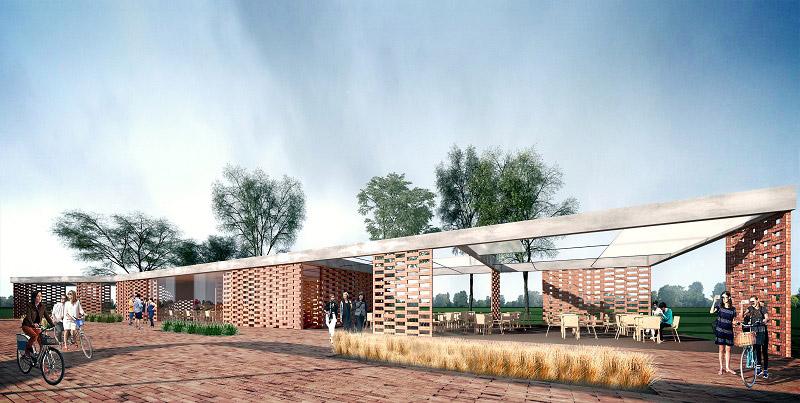 Koncepcja rewitalizacji terenu Zalewu Kraśnickiego. Projekt: Nizio Design International