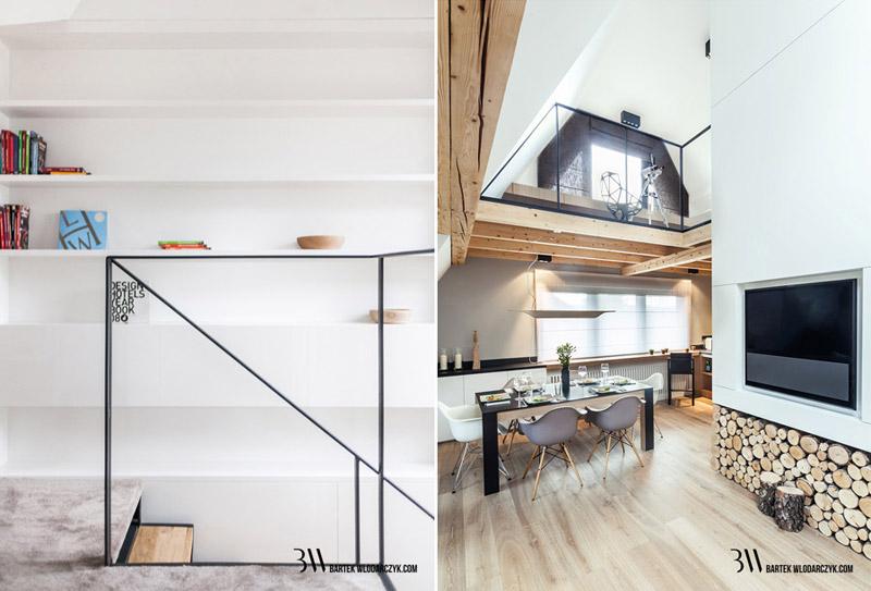 Wnętrza domu w Zakopanem. Projekt: Bartek Włodarczyk Architekt