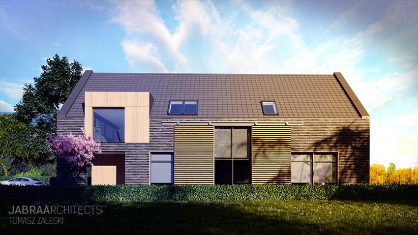 Dom Stodoła w miejskim stylu we Wrocławiu. Projekt: JABRAARCHITECTS