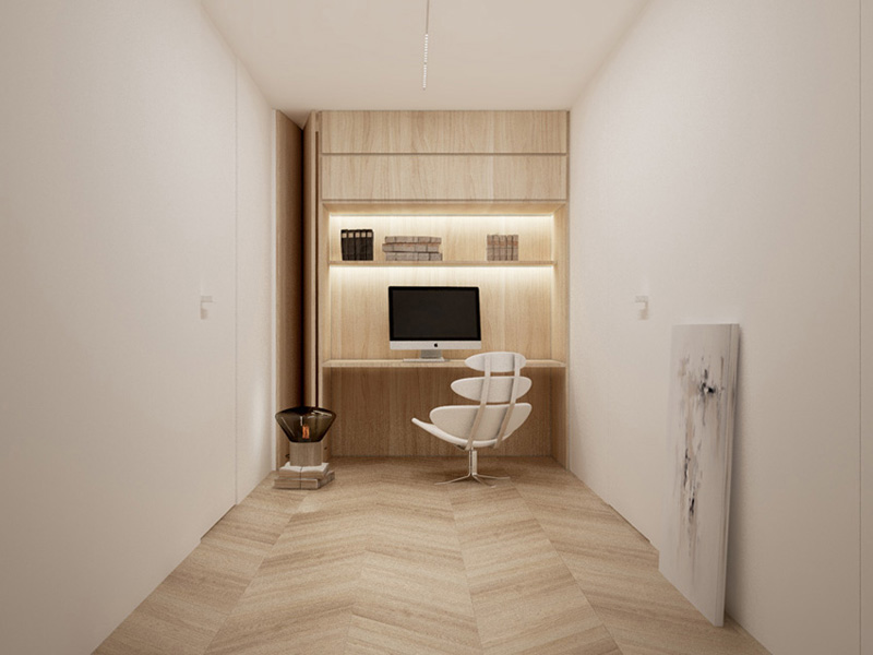 Projekt wnętrz domu jednorodzinnego w Norwegii. Pracownia: KUOO/ARCHITECTS
