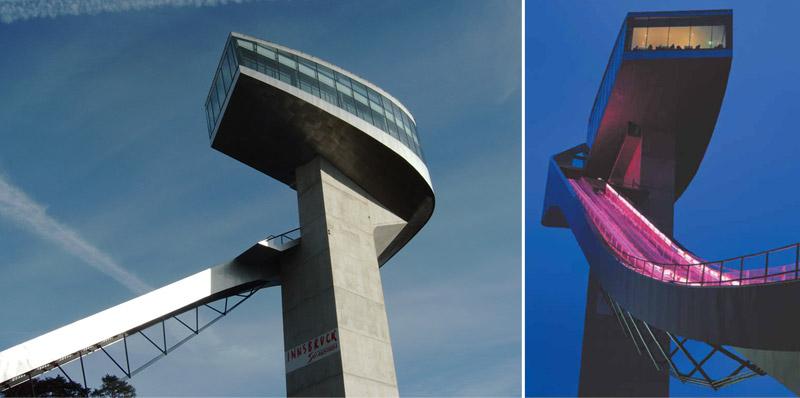 Skocznia Narciarska Bergisel. Projekt: Zaha Hadid Architects