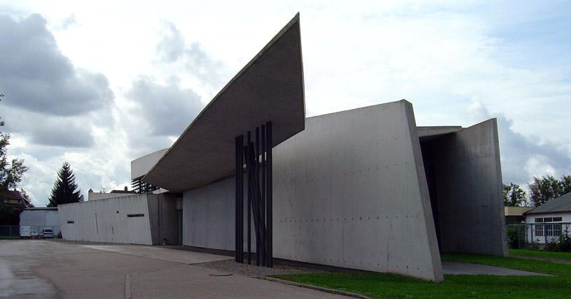 Budynek straży pożarnej fabryki Vitra, Weil am Rhein. Projekt: Zaha Hadid Architects