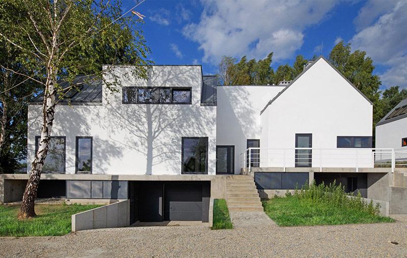 """Osiedle domów jednorodzinnych """"Domy na Wzgórzu"""" w Mikołowie. Projekt: Zalewski Architecture Group"""