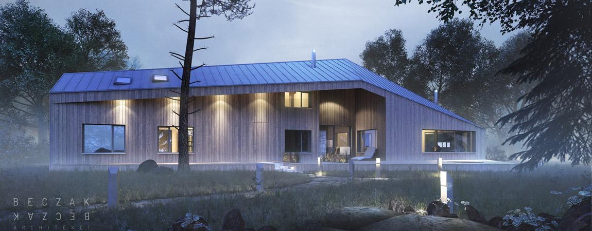 Dom w Owczarni. Projekt: Beczak & Beczak Architekci