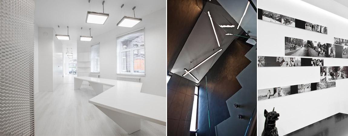Wybrane projekty wnętrz studia Kliff Design