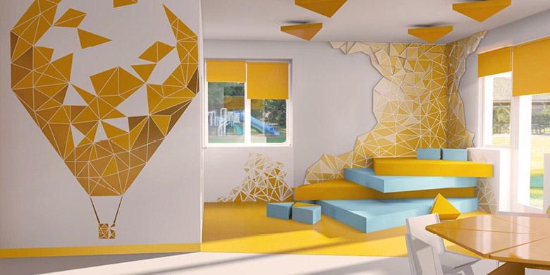 Aranżacja wnętrz przedszkola w Rzeszowie. Projekt: Kliff Design