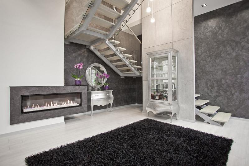 Wnętrza rezydencji GLAMOUR w Gliwicach. Projekt: Kliff Design