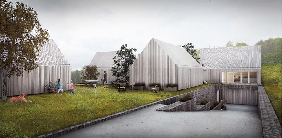 """Projekt domu pod Londynem - I Nagroda w konkursie """"Design a Beautiful House"""". Autorzy: Mana Studio"""