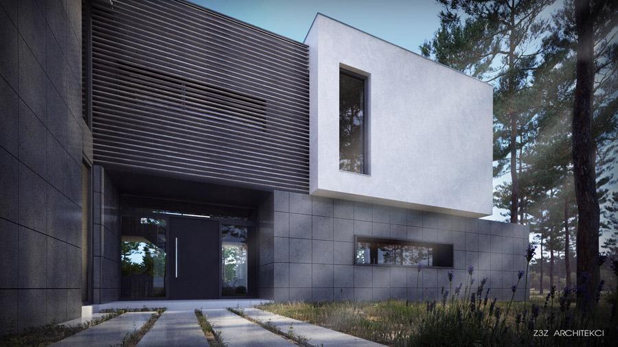 Dom z Filmu Szpiegowskiego, Sękocin, Warszawa. Projekt: Z3Z Architekci