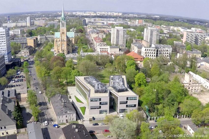 Biurowiec Ericpol Software Pool w Łodzi. Projekt: HORIZONE Studio