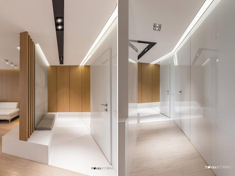 Wnętrza apartamentu na Powiślu w Warszawie. Projekt wnętrz: Mokaa Architekci