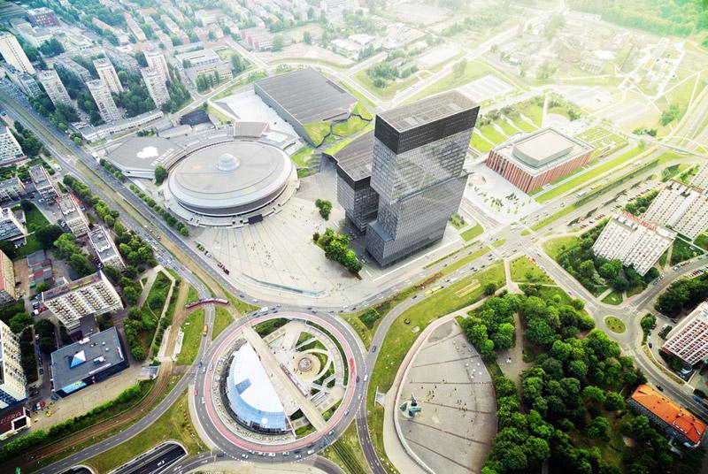 Biurowce .KTW w Katowicach. Projekt: Medusa Group. Inwestor: TDJ Estate