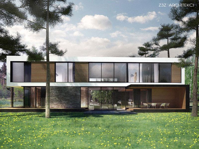 Dom w Sękocinie. Projekt: Z3Z ARCHITEKCI   Mateusz Zajkowski