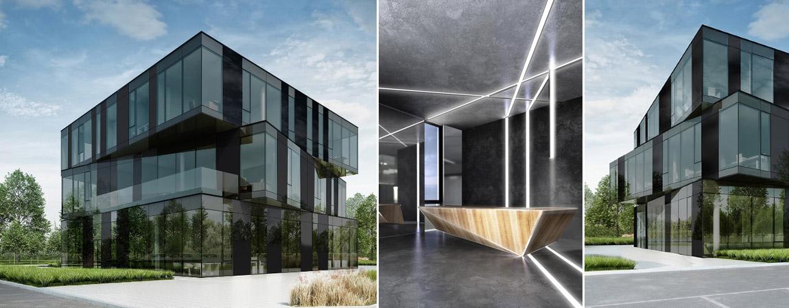 Biurowiec w woj. kujawsko-pomorskim. Projekt: Biuro Architektoniczne Ideograf | Paulina Czurak