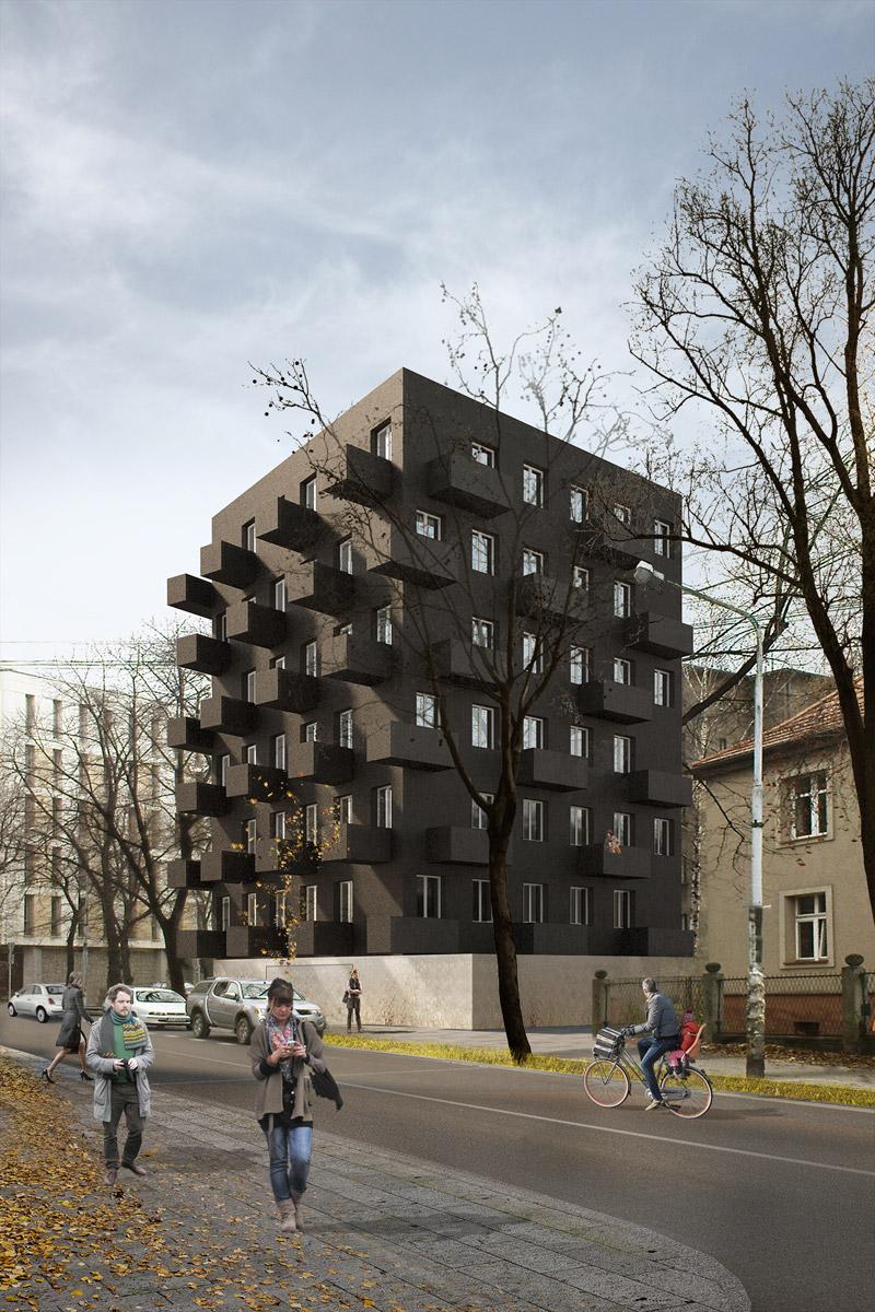 Budynek wielorodzinny Unikato, Katowice. Projekt: Robert Konieczny - KWK Promes