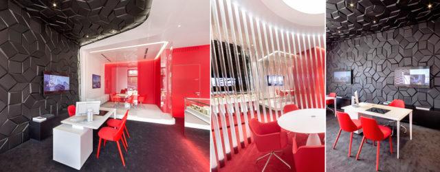 Robert Majkut zaprojektował biuro sprzedaży dla firmy Profbud – dewelopera inwestycji klasy premium