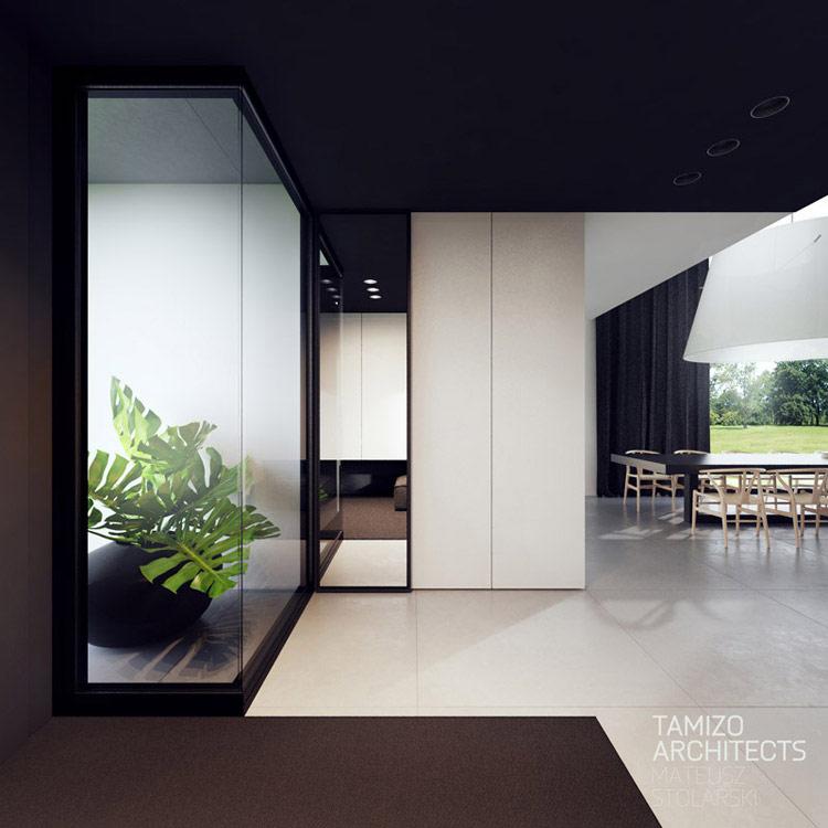 Wnętrza domu w Grójcu. Projekt: Tamizo Architects Mateusz Stolarski