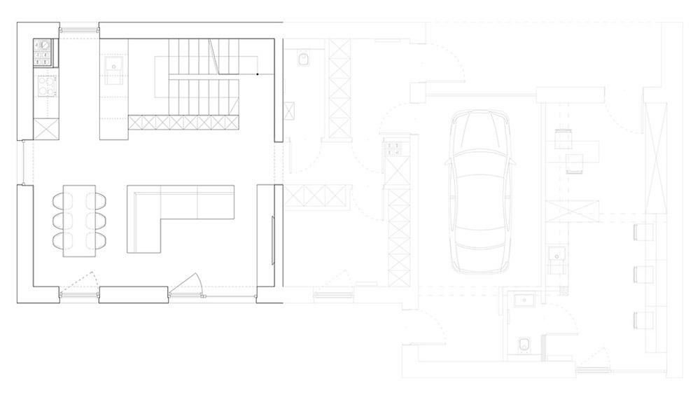 Wnętrza Czarnego Domu w Lublinie. Projekt: 081 Architekci