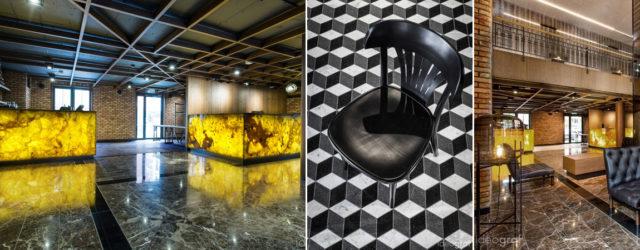 Hotel w dawnej pralni i fabryce marcepanu – Wnętrza projektu pracowni Ideograf
