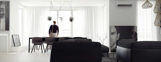 Surowy i elegancki penthouse na osiedlu Park Chopina w Mysłowicach projektu MUS Architects