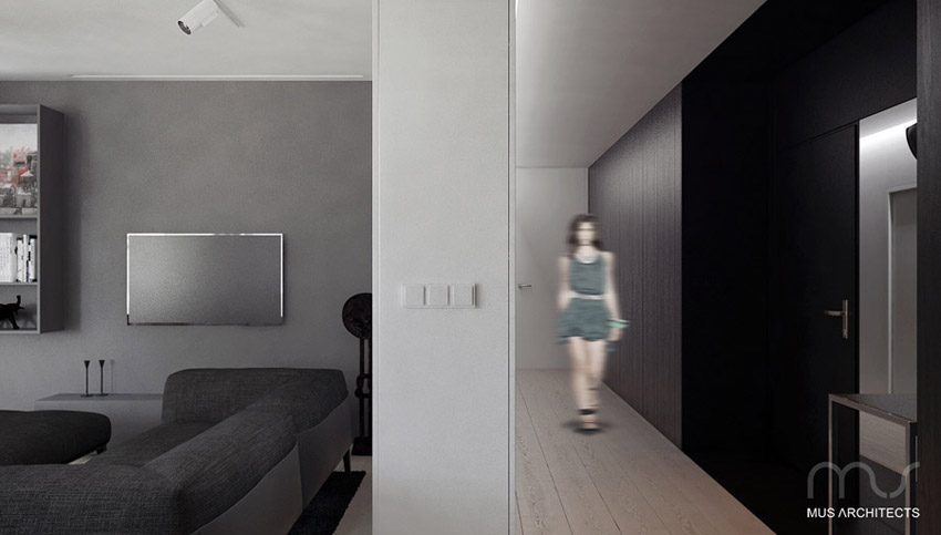Penthouse Park Chopina w Mysłowicach. Projekt wnętrz mieszkania: MUS Architects