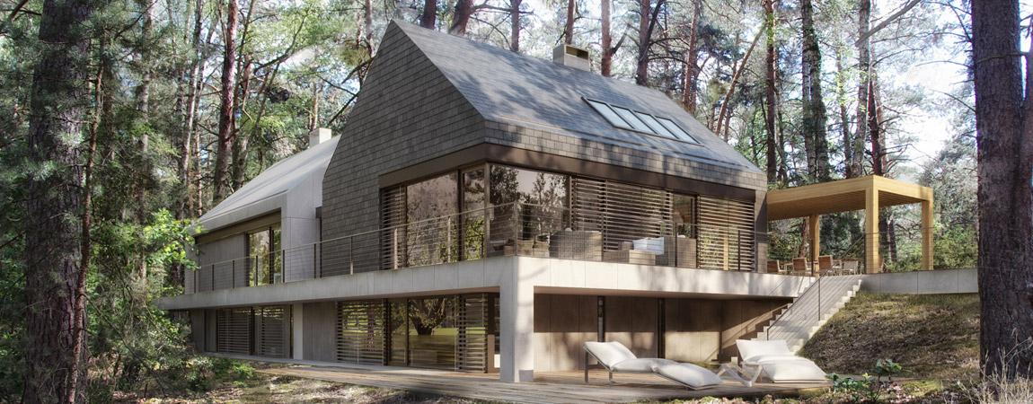 Malowniczo położony dom w lesie – najnowszy projekt pracowni STOPROCENT Architekci!