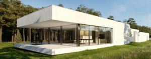 Minimalistyczny dom pod Warszawą projektu pracowni TAMIZO Architects