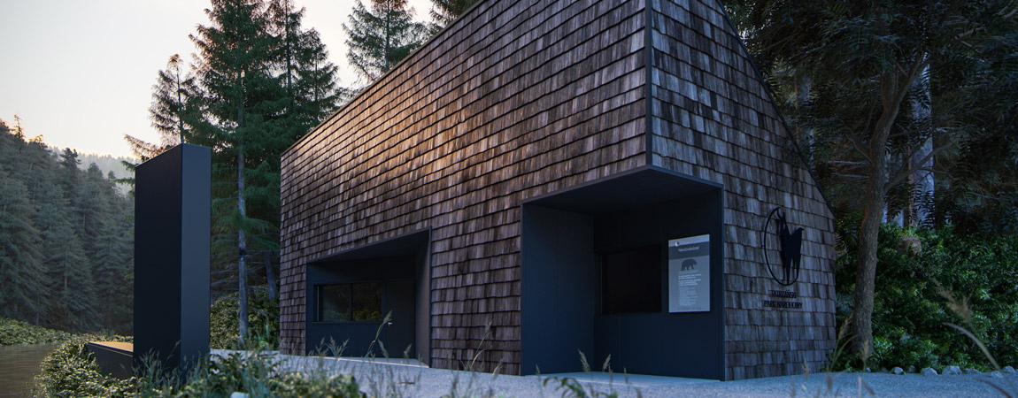 Koncepcja wejścia do Tatrzańskiego Parku Narodowego. Projekt konkursowy: 3xEL Architekci