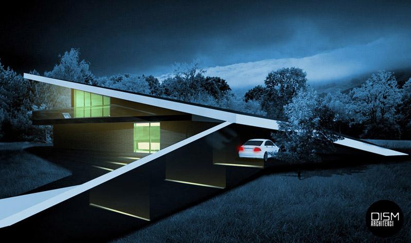 Czarny dom. Projekt: DISM Architekci