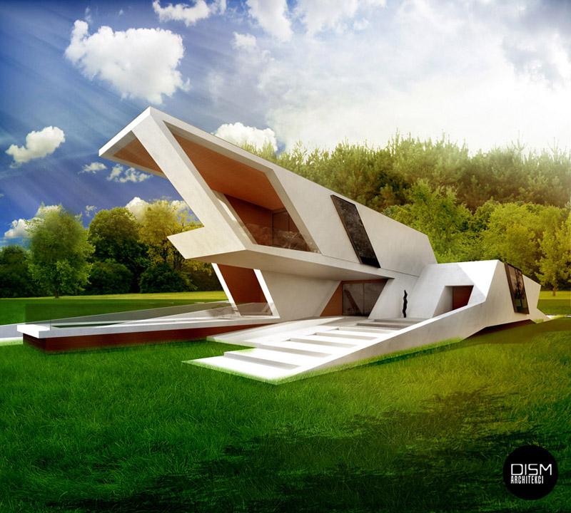 Nowoczesny dom nad morzem. Projekt: DISM Architekci