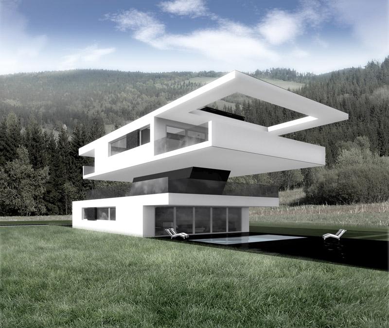 Dom na tarasie. Projekt: DISM Architekci