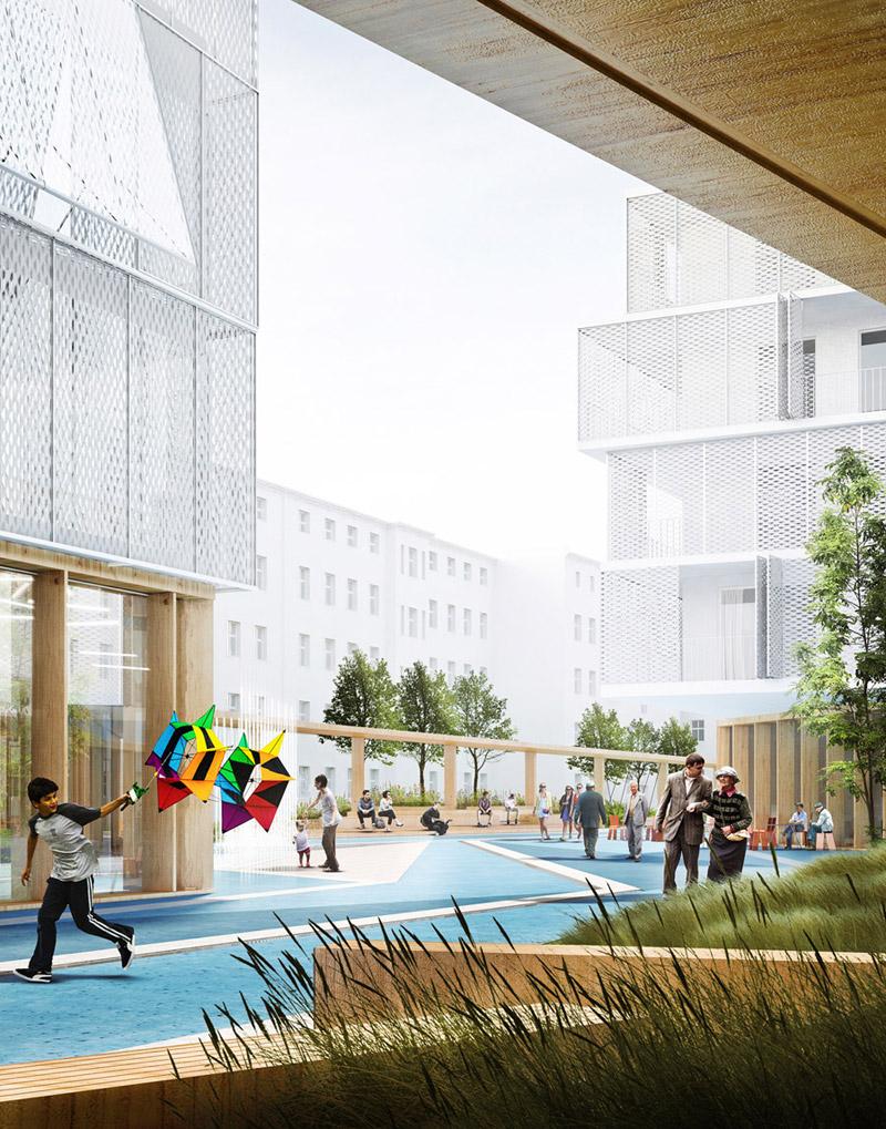 Koncepcja kwartału śródmiejskiego nr 36 w Szczecinie. I Nagroda w konkursie: Grupa Architektoniczna DOMINO