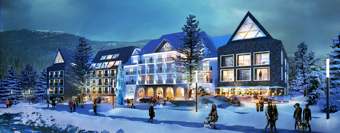 Hotel Sheraton w Zakopanem - rozbudowa i modernizacja Hotelu Bristol. Projekt: Grupa 5 Architekci