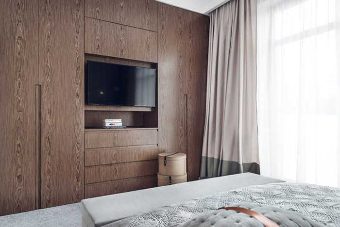 Mieszkanie dla starszych osób w Gdańsku. Projekt wnętrz: JT Grupa
