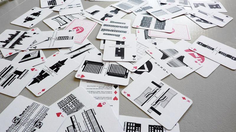 Karty do gry Architektura w Szczecinie. Projekt: Tomasz Sachanowicz | S.LAB architektura