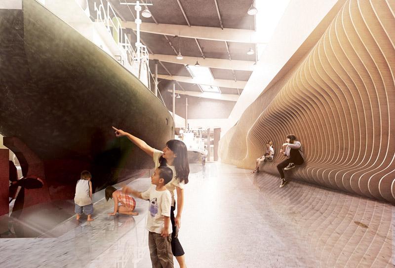 Muzeum Morskie w Łebie - I Nagroda w konkursie. Projekt: Plus3 Architekci