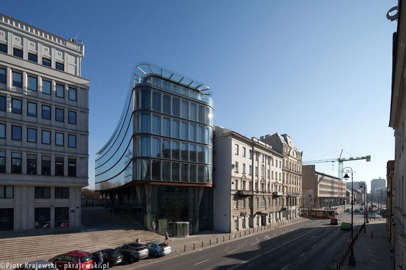 Centrum Bankowo-Finansowe Nowy Świat 2.0 w Warszawie. Projekt: AMC – Andrzej M. Chołdzyński. Zdjęcie: Piotr Krajewski