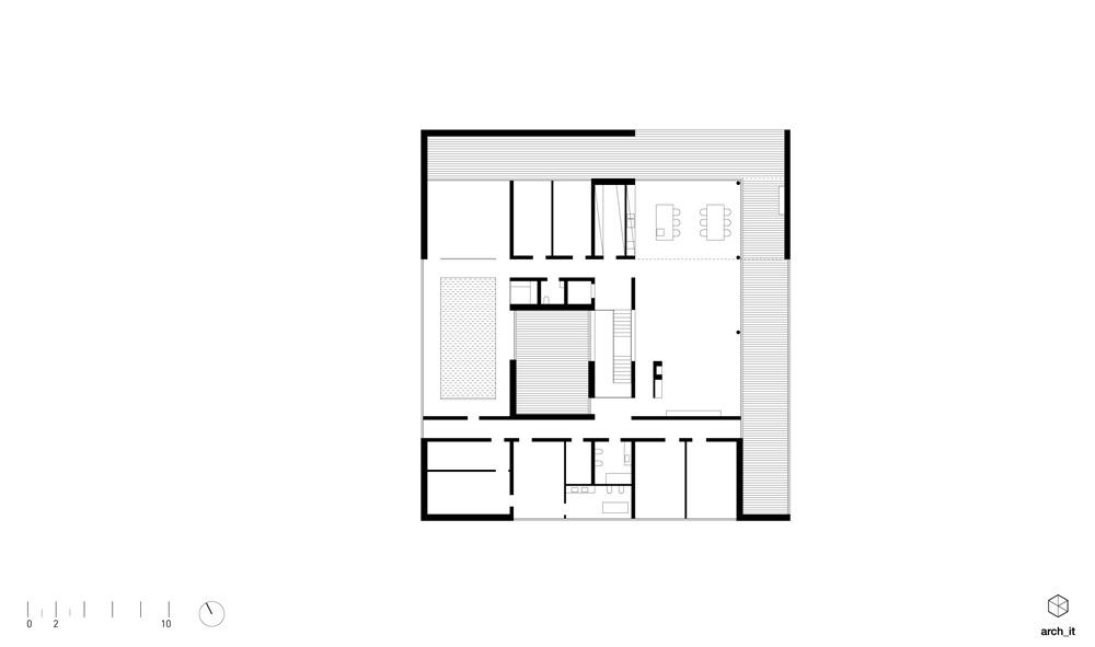Dom semi-atrialny w Trzebnicy. Projekt: arch_it | Piotr Zybura